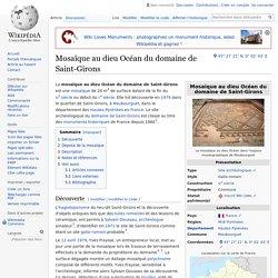 Mosaïque au dieu Océan du domaine de Saint-Girons