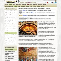 Les Mosaïques de la Basilique Saint-Marc à Venise
