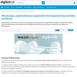 MosaLingua, application pour apprendre les langues de façon simple et efficace