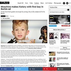 Moschino makes history with first boy in Barbie ad