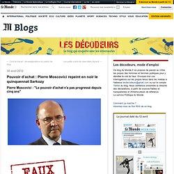 Pouvoir d'achat : Pierre Moscovici repeint en noir le quinquennat Sarkozy