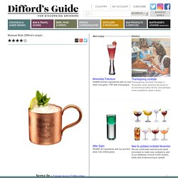 Moscow Mule (Difford's recipe)