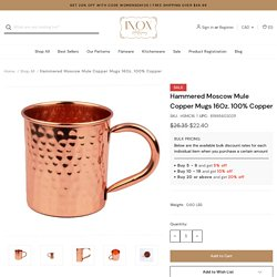 Serve Moscow Mules the Right Way with Inox's Copper Mugs