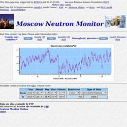 Moscow Neutron Monitor