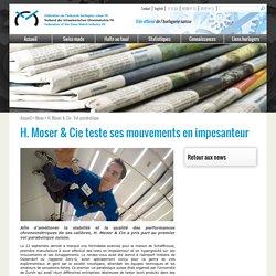 FH - H. Moser & Cie teste ses mouvements en impesanteur