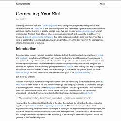 Computing Your Skill