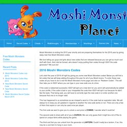 Moshi Monsters Codes 2016 - New Free Moshi Codes