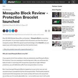 Mosquito Defense Bracelet