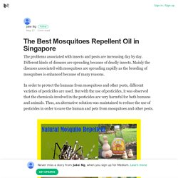 The Best Mosquitoes Repellent Oil in Singapore – Jake Ng – Medium