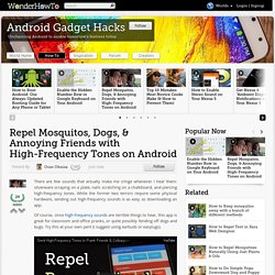 Repel Mosquitos, Dogs, & Annoying Friends with High-Frequency Tones on Android « Android Gadget Hacks