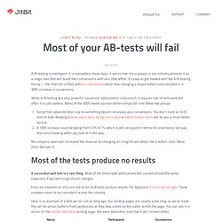 Most of your AB-tests will fail