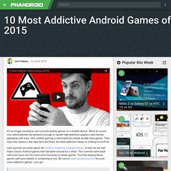 Most Addictive Android Games of 2015