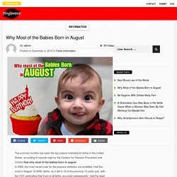 Why Most Babies Born in August - Mingleweave.com