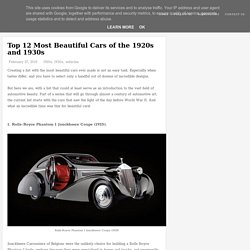 Top 12 Most Beautiful Cars of the 1920s and 1930s