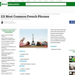 French Phrases - Most Common French Phrases