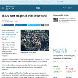 These are the most congested cities in the world