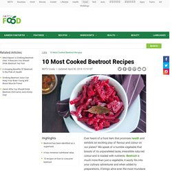 10 Most Cooked Beetroot Recipes