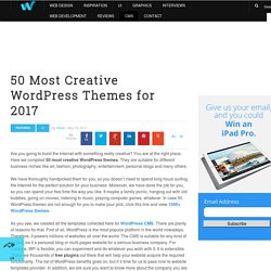 50 Most Creative WordPress Themes for 2017