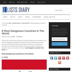 6 Most Dangerous Countries In The World - Top Six List