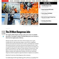 The 20 Most Dangerous Jobs