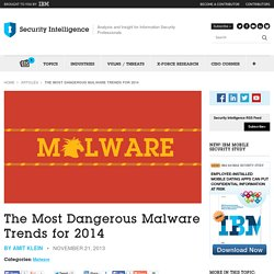 The Most Dangerous Malware Trends for 2014