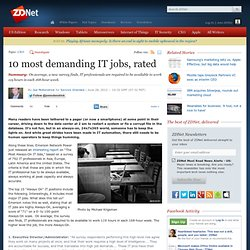10 most demanding IT jobs, rated