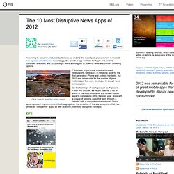 MediaShift . The 10 Most Disruptive News Apps of 2012