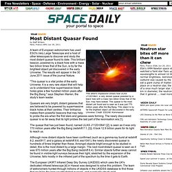 Most Distant Quasar Found