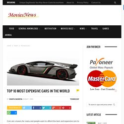 Top 10 Most Expensive Cars in the World - Movisnews