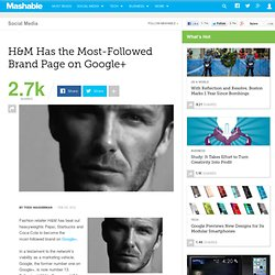 H&M Has the Most-Followed Brand Page on Google+
