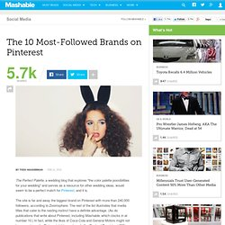 The 10 Most-Followed Brands on Pinterest
