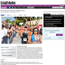 Get The Most From Hiring A Triathlon Coach