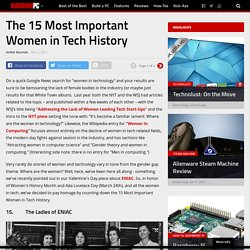 The 15 Most Important Women in Tech History