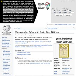 The 100 Most Influential Books Ever Written (book) - Wikipedia,