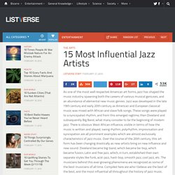 15 Most Influential Jazz Artists