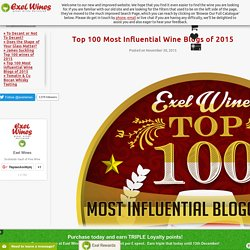 Top 100 Most Influential Wine Blogs of 2015
