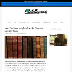 I Heart Intelligence 10 of the Most Insightful Books from the Last 100 Years