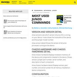 Most Used Junos Commands - dummies