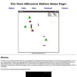 The Most Officialest SkiFree Home Page