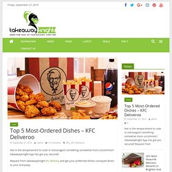 Top 5 Most-Ordered Dishes – KFC Deliveroo