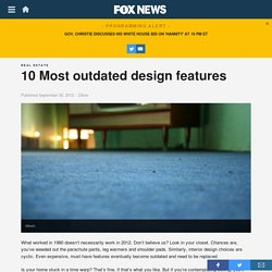 10 Most outdated design features