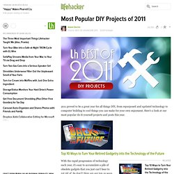 Most Popular DIY Projects of 2011