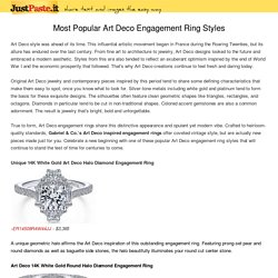 Most Popular Art Deco Engagement Ring Styles