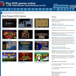 Most Popular DOS Games