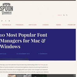 10 Most Popular Font Managers for Mac & Windows
