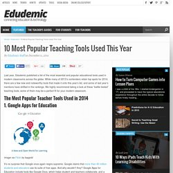 10 Most Popular Teaching Tools Used This Year