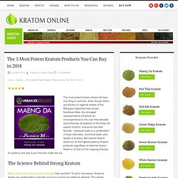 The 3 Most Potent Kratom Products You Can Buy in 2014