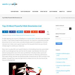 Top 25 Most Powerful Web Directories List