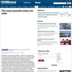 The most powerful states for solar - Jan. 13
