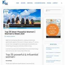 Top 35 Most-Powerful Women